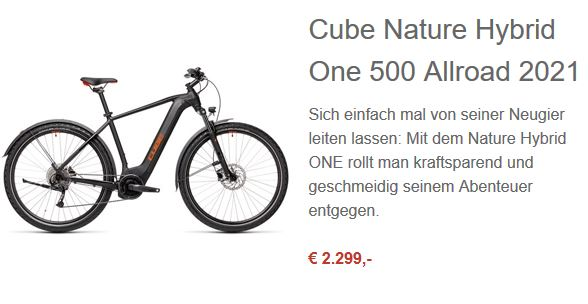 Cube NATURE HYBRID ONE 500 ALLROAD 2021