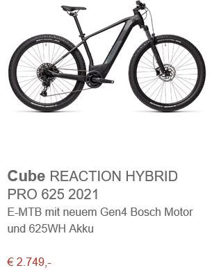 Cube REACTION HYBRID PRO 625 2021