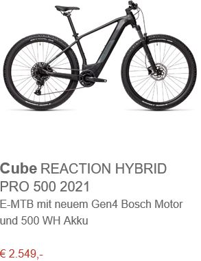 Cube REACTION HYBRID PRO 500 2021