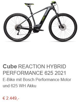 Cube REACTION HYBRID PERFORMANCE 625 2021